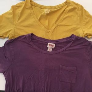 V neck and crew neck with pocket t-shirt's
